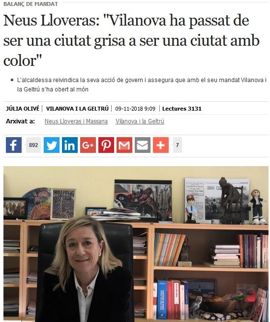 Entrevista de l'Eix Diari a Neus Lloveras